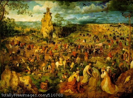 The Procession to Calvary 1564 (230 Kb); Oil on canvas, 124 x 170 cm; Kunsthistorisches Museum Wien, Vienna