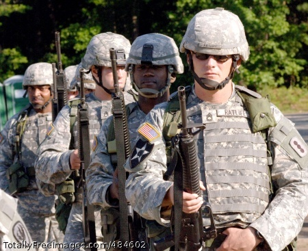08 dsoy comp - M16 The candidates of the 2008 U.S. Army Drill Sergeant of the Year competition await instructions to proceed onto the range during a June 18 M16 qualification event at Fort Eustis, Va. Other competition challenges included land navigation drills, warrior skills testing, road marches and an M203 grenade launcher qualification test. The competition concludes with a June 20 awards ceremony at Fort Monroe, Va. The candidates pictured from left to right are: Sgt. 1st Class Curtis Siler III , Staff Sgt. Leslie Ledding , Staff Sgt. Ronald Barnes, Staff Sgt. Herbert Thompson IV, Staff Sgt. Terrance Gassop and Sgt. 1st Class Curtis Ratliff Jr. Photo Credit: Jun 19, 2008
