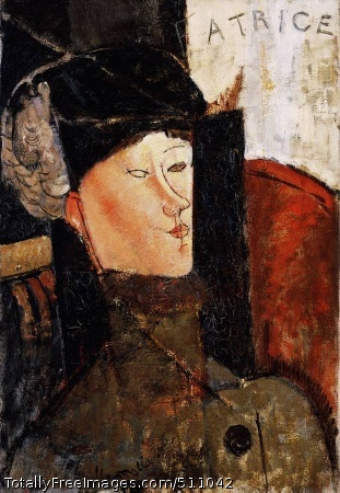 Portrait of Beatrice Hastings 1916 (120 Kb); Oil on canvas; Barnes Foundation, Merion, PA