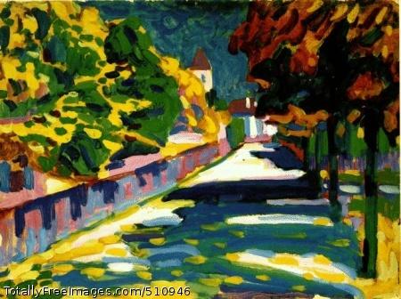 Autumn in Bavaria 1908; Oil on cardboard, 33x45cm; Centre Georges Pompidou, Paris