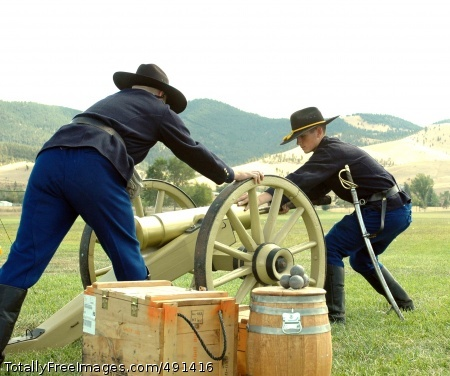High Plains Troopers The honor guard prepares to give a cannon salute. Photo Credit: Sep 19, 2007