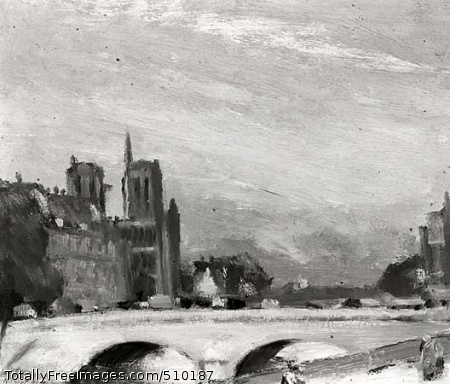 Notre Dame and the Seine Artist: Henri, Robert, 1865-1929, painter. Medium: Oil on canvas. Smithsonian Control Number: IAP 07130070
