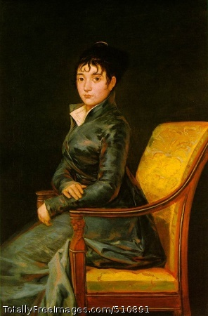 Dona Teresa Sureda c. 1805 (110 kB); Oil on canvas, 119.8 x 79.4 cm (47 1/8 x 31 1/4 in); National Gallery of Art, Washington