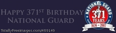 National Guard Commemorative banner graphic for the 371st birthday of the U.S. National Guard. Photo Credit: Dec 12, 2007