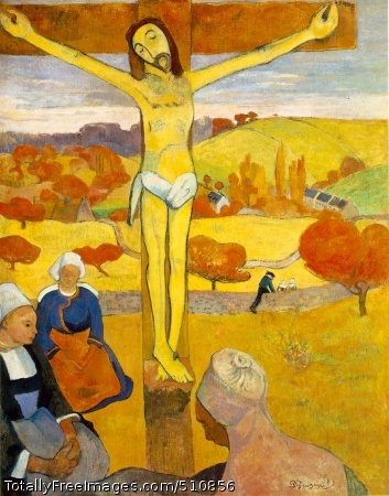 Le Christ jaune (The Yellow Christ) 1889 (160 Kb); Oil on canvas, 92.1 x 73.4 cm (36 1/4 x 28 7/8 in); Albright-Knox Art Gallery, Buffalo, NY