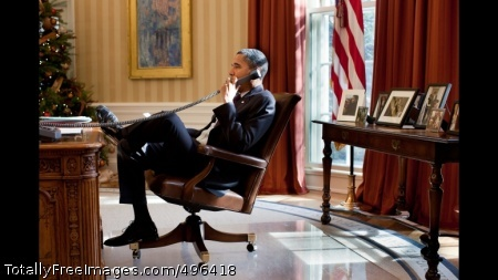 President Obama Talks With Prime Minister David Cameron President Barack Obama talks with British Prime Minister David Cameron during a phone call in the Oval Office, Dec. 21, 2010. (Official White House Photo by Pete Souza)