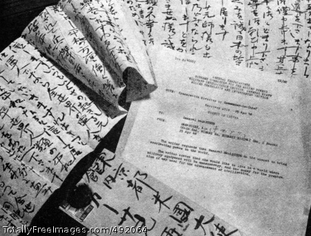 A Letter to General A Japanese letter and its summarization: 'The Writer requests that General MacArthur do his utmost to bring everlasting peace to the world... The writer states that she would like to live in a world where military equipment will be unnecessary, and the money for the preparation of war used for the advancement of civilization.' (1948) Photo Credit: Aug 1, 2007