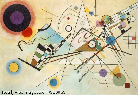 Composition VIII 1923 (140 Kb); Oil on canvas, 140 x 201 cm (55 1/8 x 79 1/8 in); Solomon R. Guggenheim Museum, New York