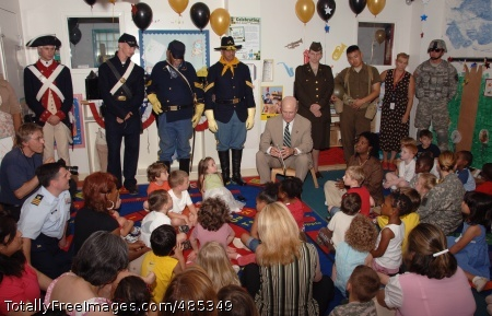 Army Birthday Secretary of the Army Pete Geren kicks off the 233rd Army Birthday Week celebration by reading 'Happy Birthday Army' storybook to children at the Fort Myer Child Development Center on June 9. Photo Credit: Jun 9, 2008