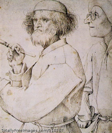 The painter and the buyer c. 1565 (150 Kb); Pen and black ink on brown paper, 25 x 21.6 cm (9 7/8 x 8 1/2 in); Albertina, Vienna