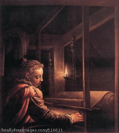 Penelope 1575-85; Oil on canvas, 92 x 85 cm; Musée des Beaux-Arts et d'Archéologie, Rennes