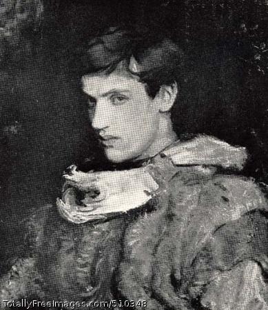 William Michael Spartali Stillman Bust-length portrait of William Michael Spartali Stillman (1878-1967) wearing a costume. Artist: Thayer, Abbott Handerson, 1849-1921, painter. Medium: Oil on canvas. Smithsonian Control Number: IAP 35680362