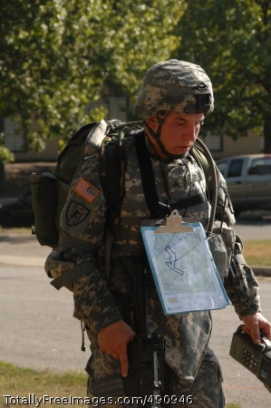 Plotting Success Competitor Sgt. Martin Jensen negotiates the Urban Warfare Orienteering Course during the 2007 Noncommissioned Officer/Soldier of the Year competition Oct. 3 at Fort Lee, Va. Photo Credit: Oct 3, 2007