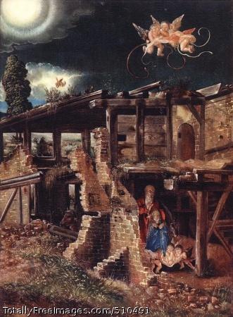 Nativity c.1513; Oil on wood panel, 36 x 25.5 cm; Staatliche Museen, Gemäldegalerie, Berlin, Germany