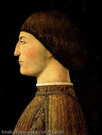 Sigismondo Pandolfo Malatesta 1451 (130 Kb); Oil and tempera on panel, 44 x 34 cm; The Louvre, Paris