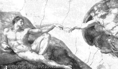 The Creation of Man (Fragment of the Sistine Chapel ceiling) 1511-12