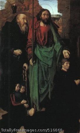 The Portinari Altarpice--The Adoration of the Shepherds (left panel) 1475; Uffizi