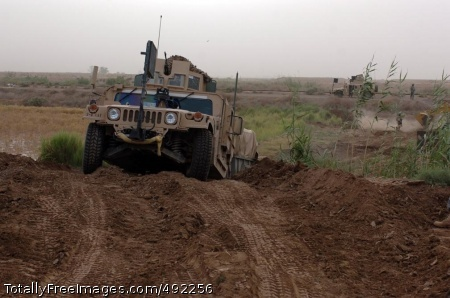 Sappers Rule the A Humvee traverses the new road. While not the Interstate, it's suitable for tactical vehicles and gets the job done.  Photo Credit: Aug 1, 2007