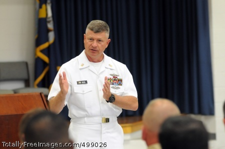 110614-N-AD372-060 CHATTANOOGA, Tenn. (June 14, 2011) Master Chief Petty Officer of the Navy (MCPON) Rick D. West talks about Perform To Serve at an all-hands call at Navy Operational Support Center, Chattanooga, Tenn., during Chattanooga Navy Week. Navy Weeks are designed to show Americans the investment they have made in their Navy as a Global Force for Good and increase awareness in cities that do not have a significant Navy presence. (U.S. Navy photo by Mass Communication Specialist 1st Class Abraham Essenmacher/Released)