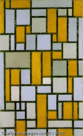 Composition with Gray and Light Brown 1918; Oil on canvas, 80.2 x 49.9 cm; Museum of Fine Arts, Houston, Texas