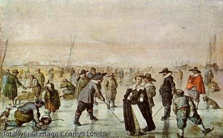 A Scene on the Ice Watercolor, 190 x 310 mm; Teylers Museum, Haarlem