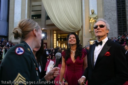 Celebrities Salute Former Soldier and award nominee Clint Eastwood expresses his thanks to the men and women of the armed forces before the 79th Academy Awards at the Kodak Theatre in Los Angeles, Feb. 25. Other celebrities as well, took the time to thank the Soldiers and pay tribute to their service and sacrifices. Photo Credit: Feb 27, 2007