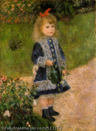 A Girl With a Watering Can 1876 (190 Kb); Oil on canvas, 100 x 73 cm (39 1/2 x 28 3/4 in); The National Gallery of Art, Washington, D.C.