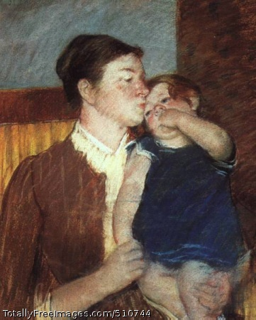 Mother and Child 1888 (40 Kb); pastel on paper; Art Institute of Chicago
