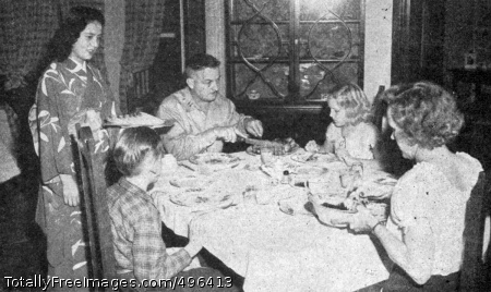 Accommodations Dishes, silver-ware, table linen--all necessary furnishings were provided. Photo Credit: Dec 1, 1946