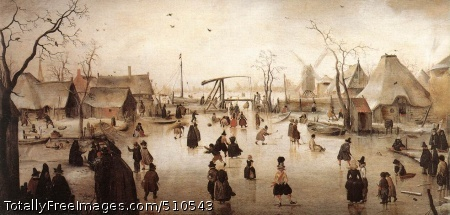 Ice Scene c. 1610; Oil on panel, 36 x 71 cm; Mauritshuis, The Hague