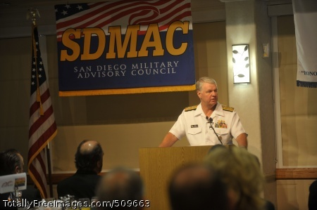 100917-N-3548M-040  SAN DIEGO (Sept. 17, 2010) Chief of Naval Operations (CNO) Adm. Gary Roughead delivers remarks and answers questions at the San Diego Military Advisory Council breakfast during his trip to San Diego. (U.S. Navy photo by Mass Communication Specialist 2nd Class Kyle P. Malloy/Released)