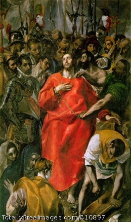 El Espolio (The spoliation, Christ Stripped of His Garments) 1577-79 (210 Kb); Oil on canvas, 285 x 173 cm; Sacristy of the Cathedral of Toledo