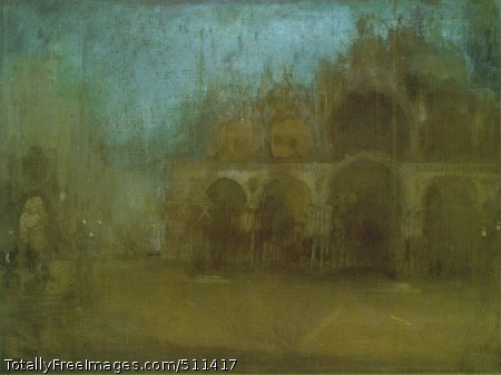 Nocturne: Blue and Gold - St Mark's, Venice 1879-80; 44.5 x 59.7 cm; National Museum of Wales, Cardiff