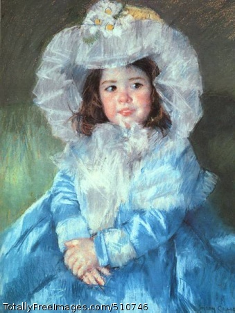 Margot in Blue 1902 (40 Kb); Pastel on heavy paper with light canvas back; The Walters Art Gallery at Baltimore, MD