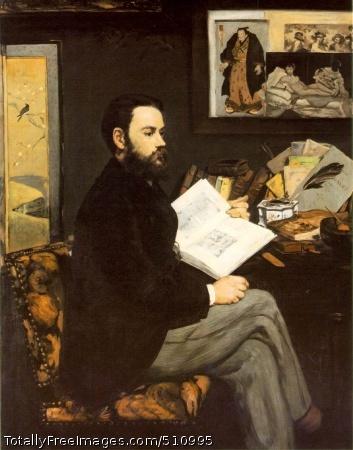 Portrait d'Emile Zola 1868 (110 Kb); Oil on canvas, 146 x 114 cm (57 1/2 x 44 7/8 in); Musee d'Orsay, Paris