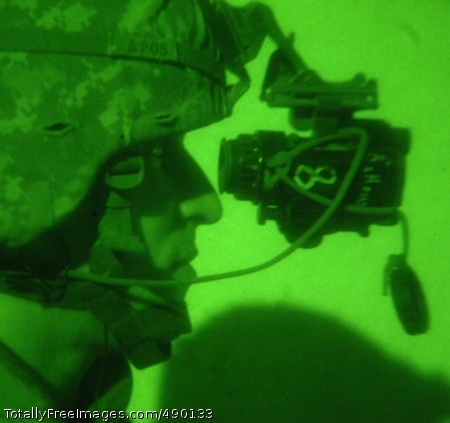24-Hour Operations Most people sleep at night. But for Soldiers in harm's way, darkness is no reason to remain idle. Here, a Soldier from 1st Squadron, 2nd Stryker Cavalry Regiment, conducts a night raid Oct.18, in Baghdad. Photo Credit: Nov 1, 2007