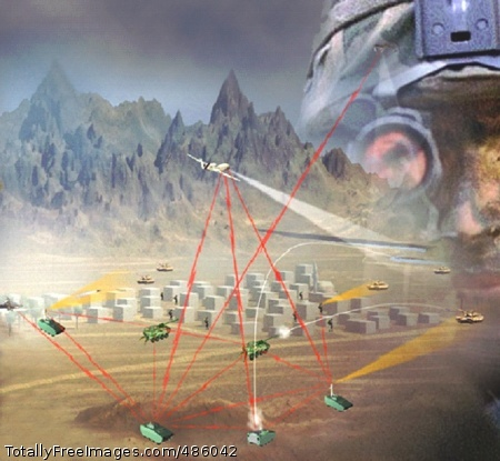 FCS Network The Future Combat Systems network is depicted here graphically showing connectivity between different weapons platforms and the Soldiers. Photo Credit: May 14, 2008