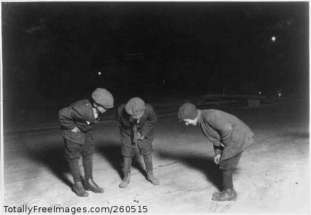 (For Child Welfare Exhibit 1912-13.) A midnight crap game in the