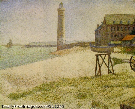 The Lighthouse at Honfleur 1886 (210 Kb); Oil on canvas, 66.7 x 81.9 cm (26 1/4 x 32 1/4 in); The National Gallery of Art, Washington, D.C.