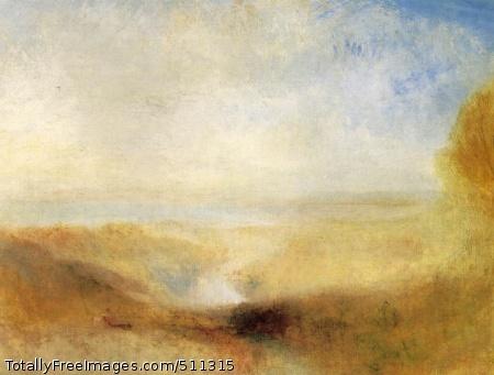 Landscape with Distant River and Bay c. 1840-50; Oil on canvas, 94 x 124 cm; Musée du Louvre, Paris