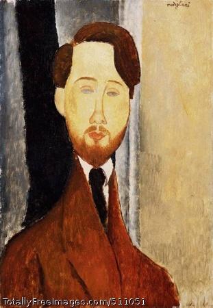 Portrait of Leopold Zborowski 1919 (60 Kb); Oil on canvas; Barnes Foundation, Merion, PA