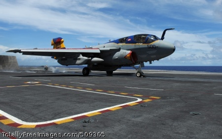 101001-N-2821G-130  PACIFIC OCEAN (Oct. 1, 2010) An EA-6B Prowler assigned to the Lancers of Electronic Attack Squadron (VAQ) 131 launches from the aircraft carrier USS Abraham Lincoln (CVN 72), with Capt. John D. Alexander, commanding officer of Abraham Lincoln, aboard the aircraft as an electronic countermeasure officer. VAQ-131 is part of the Abraham Lincoln Carrier Strike Group, which is on a scheduled deployment to the U.S. 7th and 5th Fleet areas of responsibility, supporting maritime security operations and theater security cooperation efforts to establish conditions for regional stability. (U.S. Navy photo by Mass Communication Specialist 2nd Class Alan Gragg/Released)