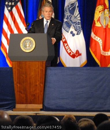 Bush on OIF President George W. Bush speaks to a group of military members March 19 at the Pentagon, on the eve of the fifth anniversary of the start of the war in Iraq.   Photo Credit: Mar 19, 2008