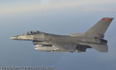 OVER THE GULF OF MEXICO - An F-16 from the 179th Fighter Squadron, a subordinate unit of the 148th Fighter Wing out of Duluth, Minn., flies a mission over the Gulf of Mexico Jan. 27. The 148th FW is working with the 53rd Weapons Evaluation Group at Tyndall Air Force Base, Fla., for two weeks to train for their Air Sovereignty Alert missions and to validate their new Block 50 F-16s.