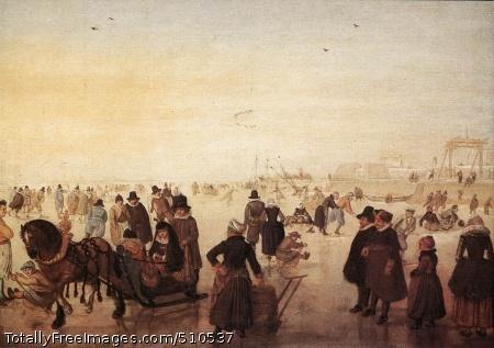 Ice Scene Oil on canvas; Rijksmuseum Kröller-Müller, Otterlo
