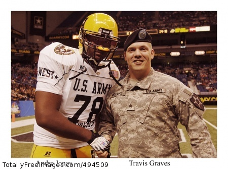 Soldier Heroes The picture featured here represents the more than 88 Soldiers honored at game-week festivities of the 2007 U.S. Army All-American Bowl in San Antonio, Texas. The game, which brings together the nation's best high school football athletes, features a series of events that showcase the ideals of leadership, courage and strength that the elite athletes and Soldiers pictured here live by. The Soldiers represent Active Duty, National Guard and Reserve commands from 27 states across the country, and each Soldier has earned a Silver Star, Bronze Star Medal or Purple Heart for service in support of Operations Iraqi Freedom and Enduring Freedom. Photo Credit: Mar 14, 2007