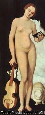 Music c.1529; Pine panel, 83 x 36 cm; Alte Pinakothek, Munich