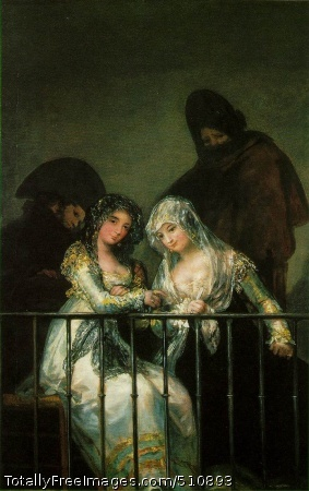 Group on a Balcony c. 1810-15 (160 kB); Oil on canvas, 194.8 x 125.7 cm (76 3/4 x 49 1/2 in); Metropolitan Museum of Art, New YorkNote from Allen Strouse: Considered by most scholars to be a forgery