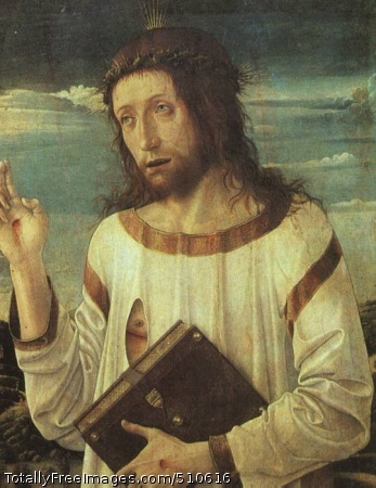Christ's Blessing 1460 (50 kB); wood, Louvre