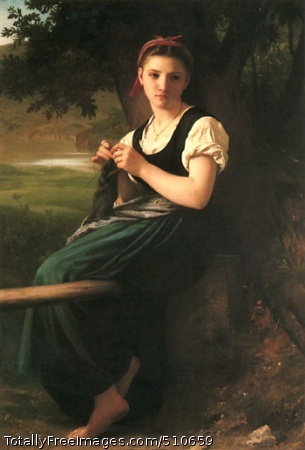The Knitting Girl 1869 (30 Kb)